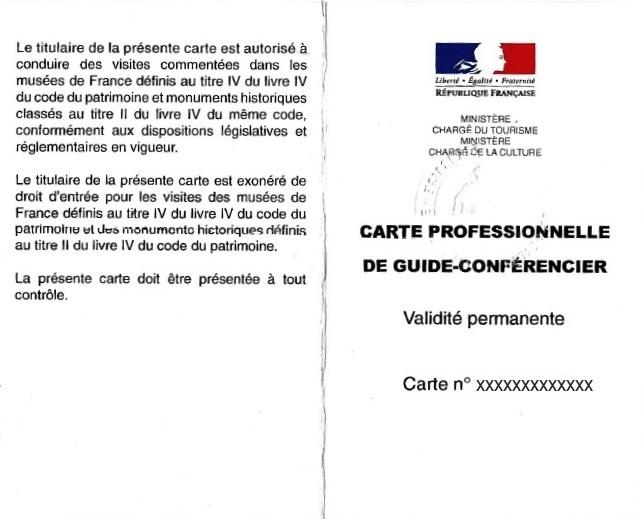 carte de guide conférencier Le métier de guide conférencier   Vade Mecum en Terres d'Auvergne